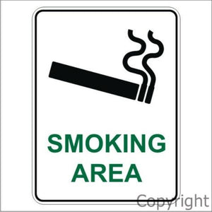 Smoking Area and Symbol Sign