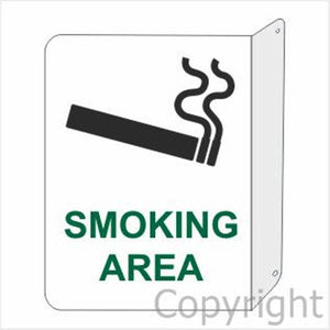 Smoking Area with Picture Sign