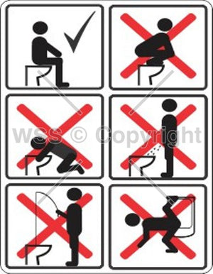 Please Do Not Do These Things With The Toilet Sign
