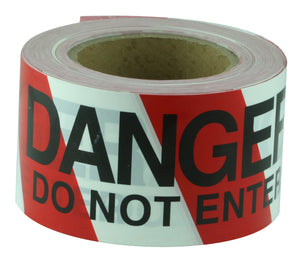 DANGER DO NOT ENTER Black on Red/White tape