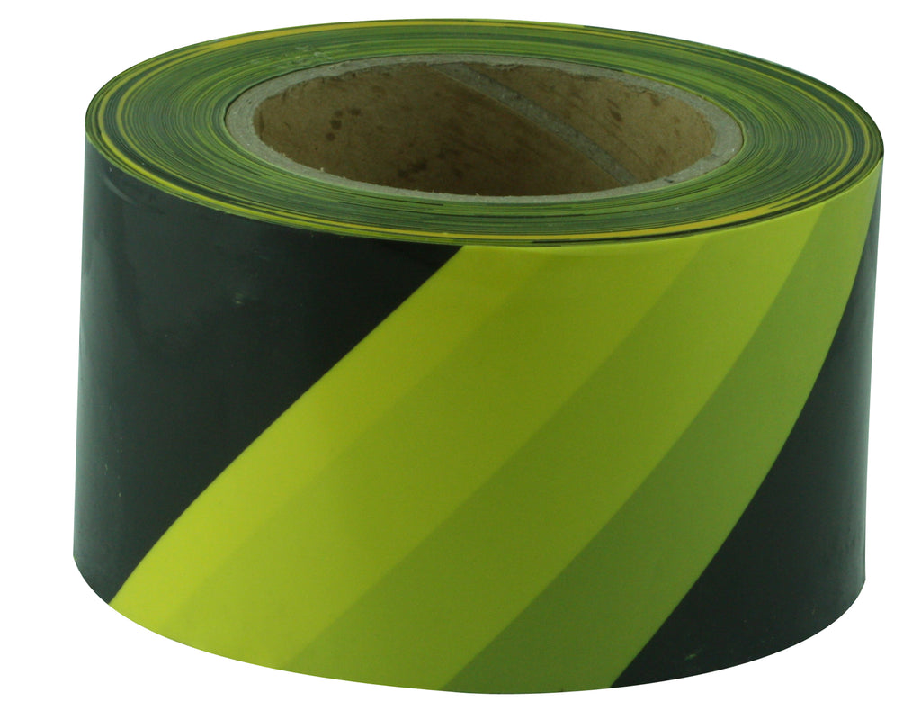 Yellow & Black Barricade Tape