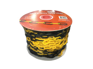 Black & Yellow Plastic Safety Chain – Heavy Duty 6mm