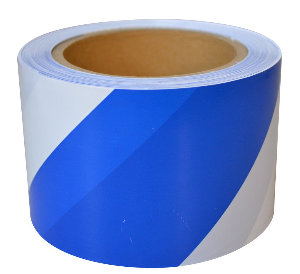 Blue & White Barricade Tape