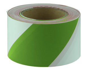 Green & White Barricade Tape