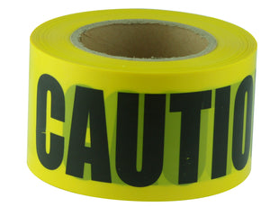 CAUTION Black on Yellow Tape
