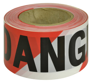 DANGER Black on Red/White Tape