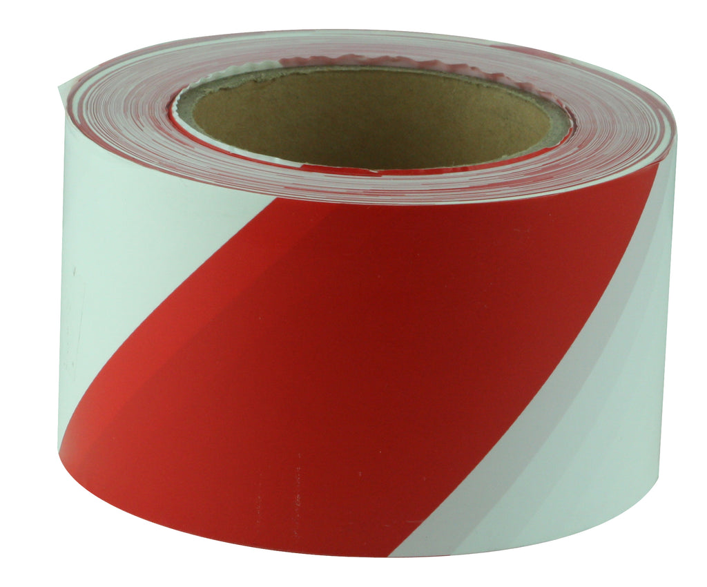 Red and White Barricade Tape