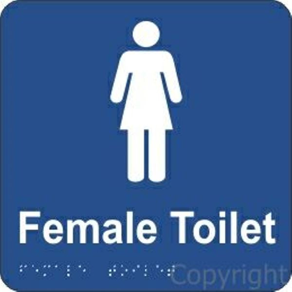 Braille Female Toilet Sign