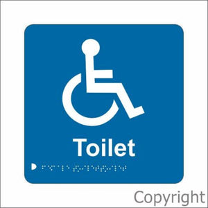 Braille Disabled Toilet Sign