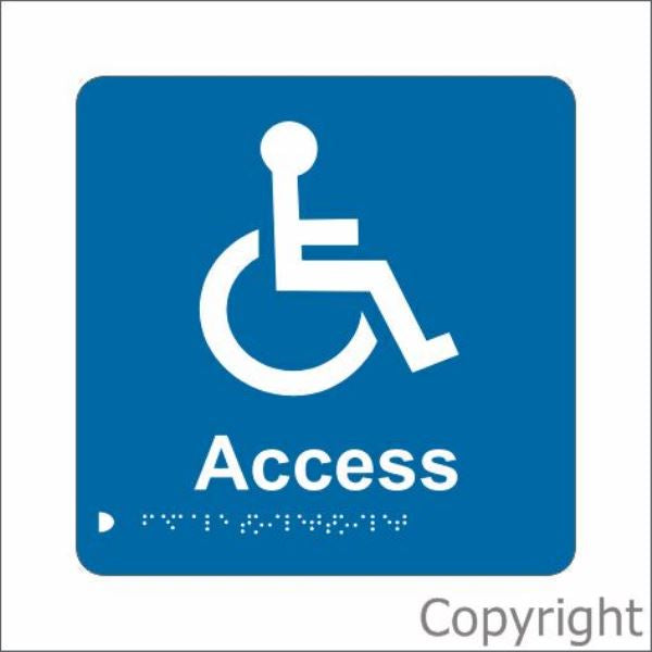Braille Disabled Access Sign