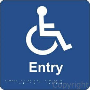 Braille Disabled Entry Sign