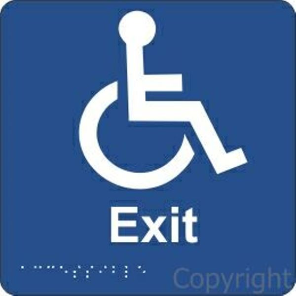 Braille Disabled Exit Sign