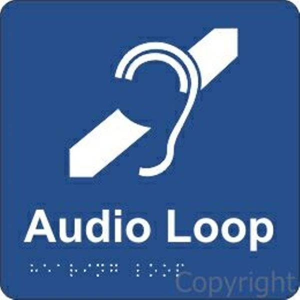 Braille Audio Loop Sign