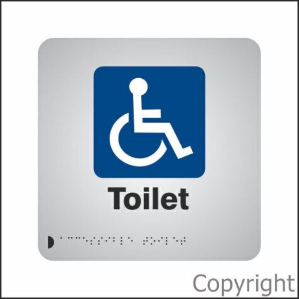 Braille Disabled Toilet Aluminium Sign