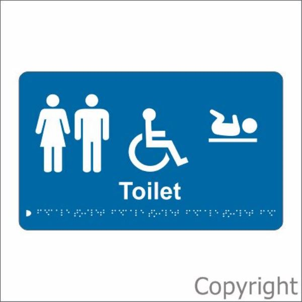 Braille Unisex Disabled Change Room Sign