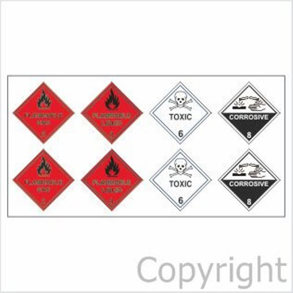 Emergency Evacuation Plan Hazchem Stickers