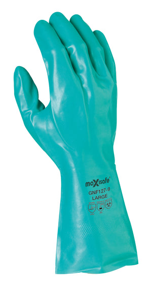 Maxisafe Green Nitrile Chemical Glove – 33cm