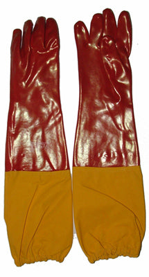 Red PVC 60cm Gauntlet