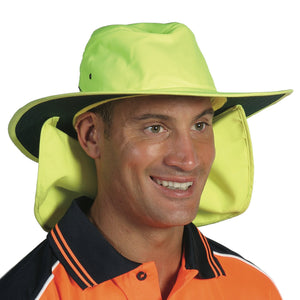 H055 - Hi Vis Hat with Flap