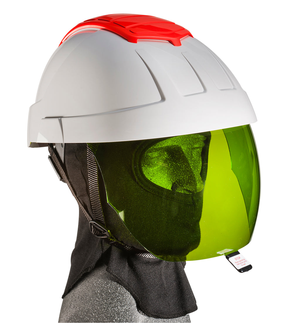 E-MAN Retractable Visor Helmet-with Green IR 2 Visor