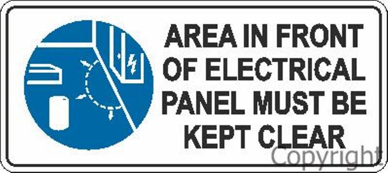 Area In Front Of Electrical Panel etc. Sign
