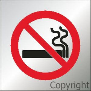 No Smoking Sign Picture Only - Reversed Perspex