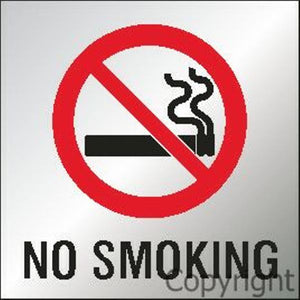 No Smoking Sign With Picture - Reversed Perspex