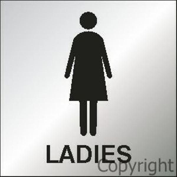 Ladies - Reversed Perspex Sign