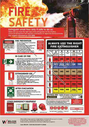 Fire Safety Poster Laminated