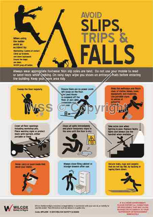 Avoid Slips Trips & Falls Sign