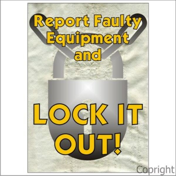 Report Faulty Equipment Sign