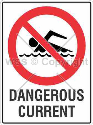 Dangerous Current Sign W/ Picture