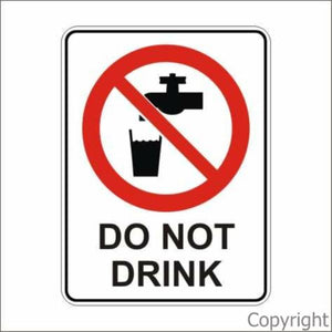 Do Not Drink Sign W/ Picture