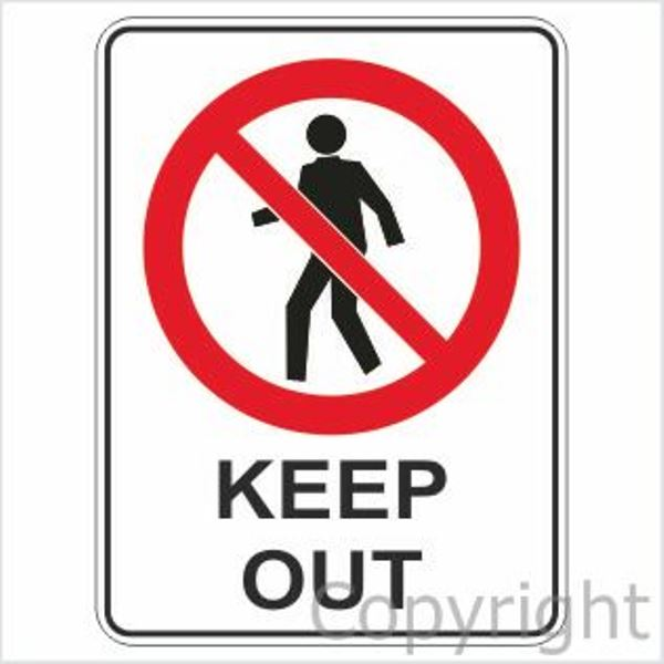 Keep Out Sign W/ Picture