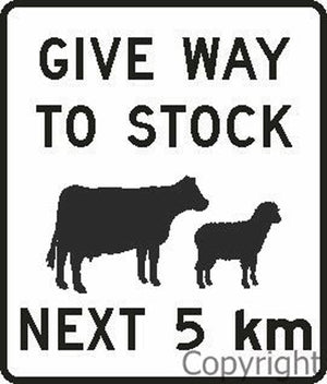 Give Way To Stock Next 5 Km Sign
