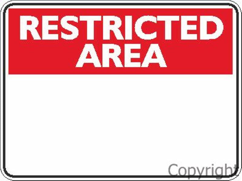 Blank Restricted Area Sign