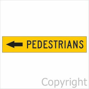 Pedestrians Sign With Left Arrow