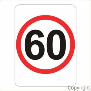 60 km/hr Sign Rectangular