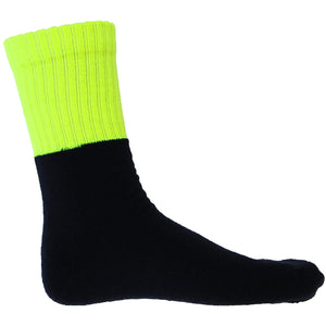 S123 - Hi Vis Two Tone Acrylic 3 Pack Work Socks