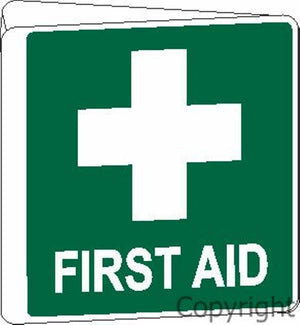First Aid Sign Off Wall