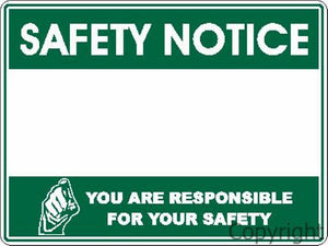 Blank Safety Notice Sign