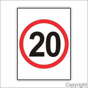 20 km/hr Sign Rectangular