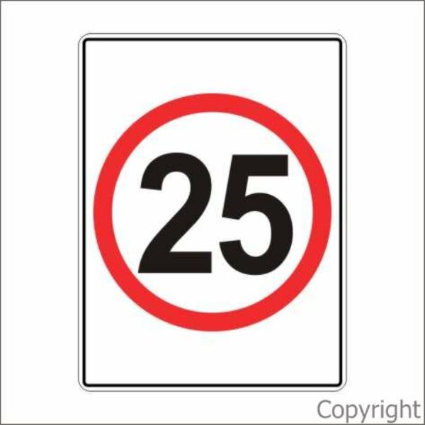 25 km/hr Sign Rectangular
