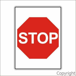 Stop Sign In Rectangle