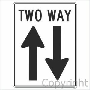 Two Way Sign W/ Arrows