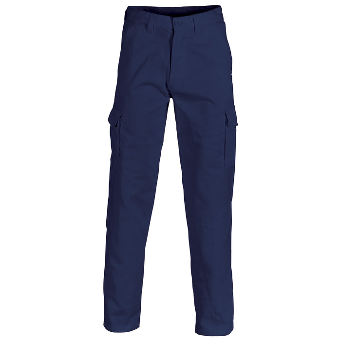Cotton Drill Cargo Navy Pants