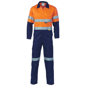 Hi Vis 2 Tone Cotton Overall with Tape