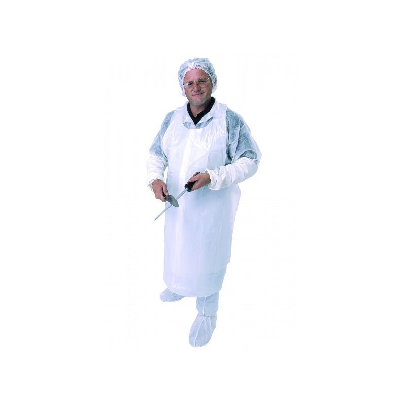 Disposable Plastic Apron - White