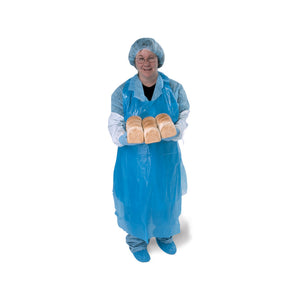 Disposable Plastic Apron - Blue