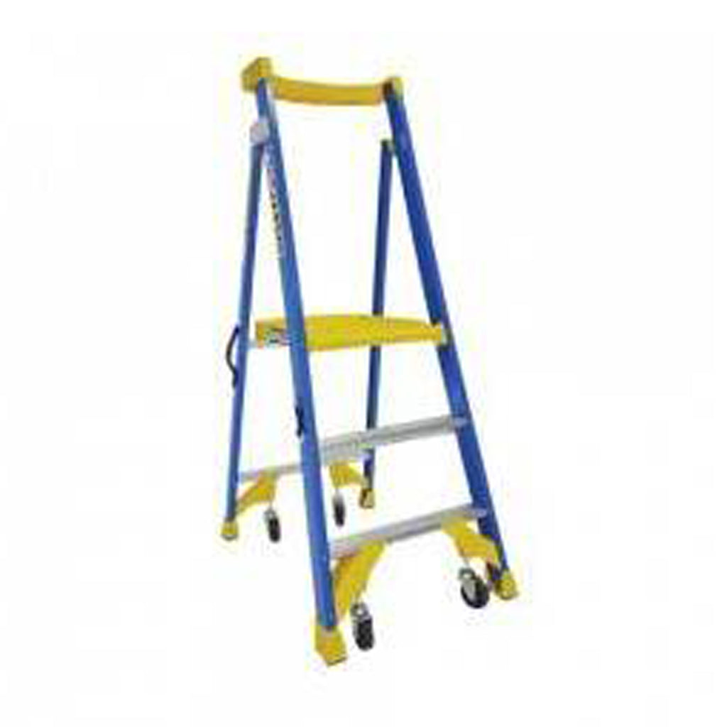 170Kg Bailey Fibreglass Platform Ladder - JOB Station